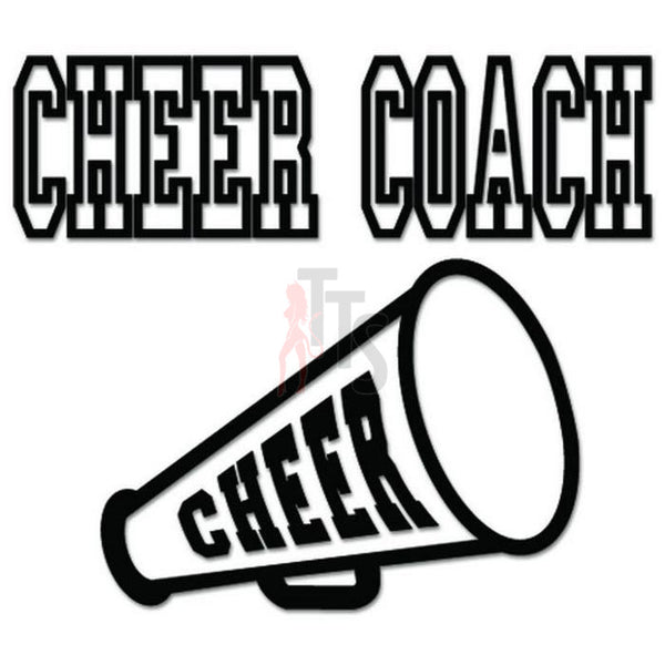Cheer Coach Cheerleading Decal Sticker Style 1