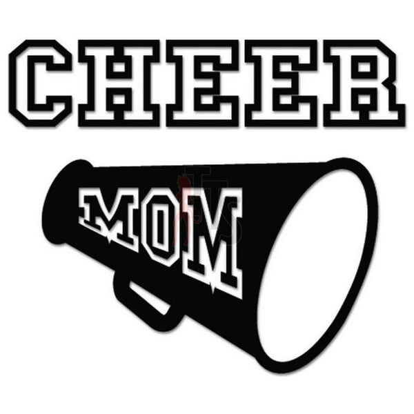 Cheer Mom Cheerleading Decal Sticker Style 1