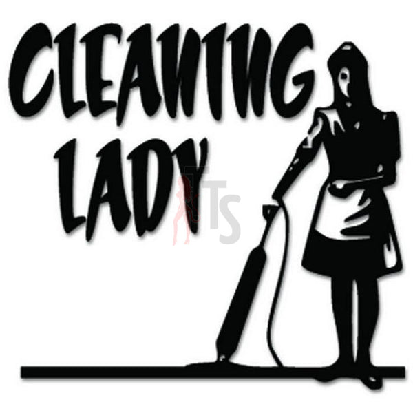 Cleaning Lady Maid Decal Sticker