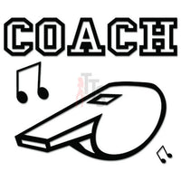 Coach Whistle Sports Decal Sticker
