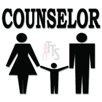 Counselor Family Decal Sticker