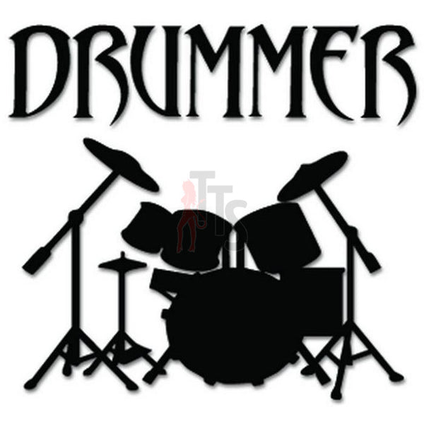Drummer Drums Music Decal Sticker