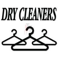 Dry Cleaners Clothes Decal Sticker
