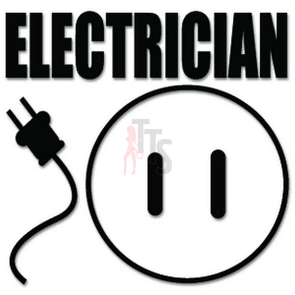 Electrician Electricity Decal Sticker