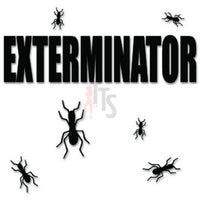 Exterminator Bugs Insects Decal Sticker