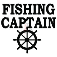 Fishing Captain Wheel Decal Sticker