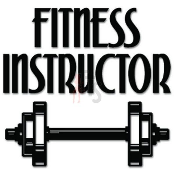 Fitness Instructor Weightlifting Decal Sticker