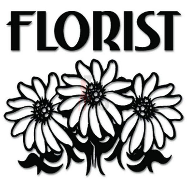 Florist Flowers Decal Sticker