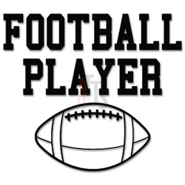 Football Player Sport Decal Sticker