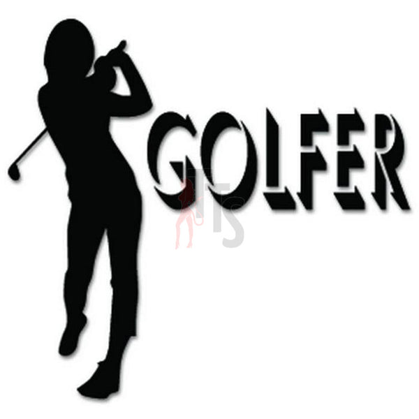 Golf Golfer Women Decal Sticker