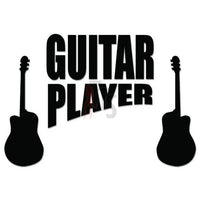 Guitar Player Music Decal Sticker