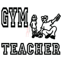Gym Teacher Sports Decal Sticker