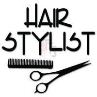 Hair Stylist Haircut Decal Sticker