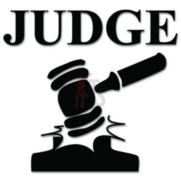 Judge Court Law Decal Sticker
