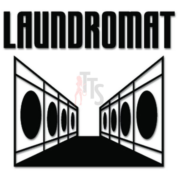 Laundromat Cleaners Clothes Decal Sticker