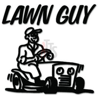 Lawn Guy Grass Mowing Decal Sticker