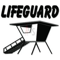 Lifeguard Beach Decal Sticker