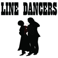 Line Dancers Country Decal Sticker