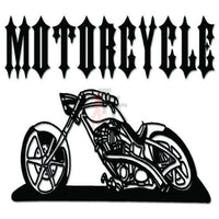 Motorcycle Chopper Decal Sticker