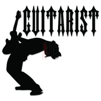 Guitarist Rock Band Decal Sticker