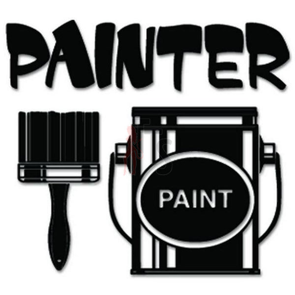 Painter Brush Paint Decal Sticker Style 2