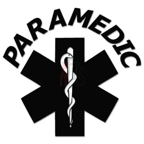 Paramedic Star of Life Decal Sticker