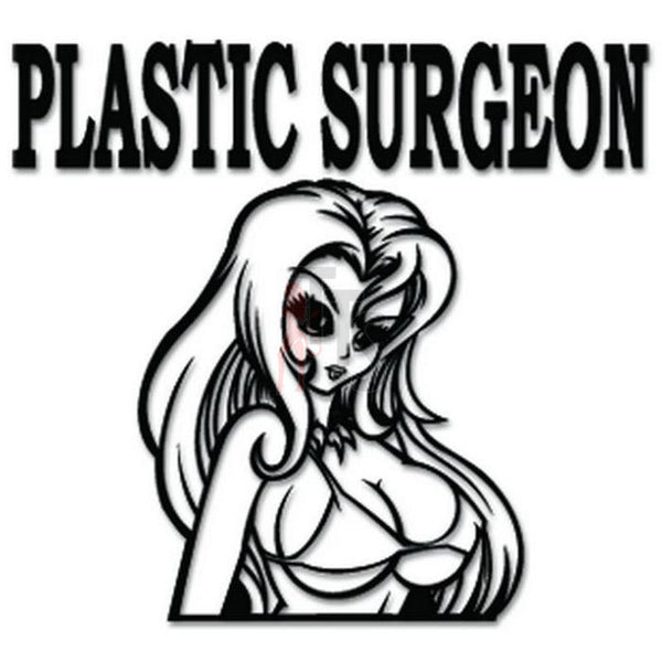 Plastic Surgeon Sexy Girl Decal Sticker