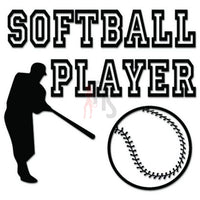 Softball Player Sport Decal Sticker
