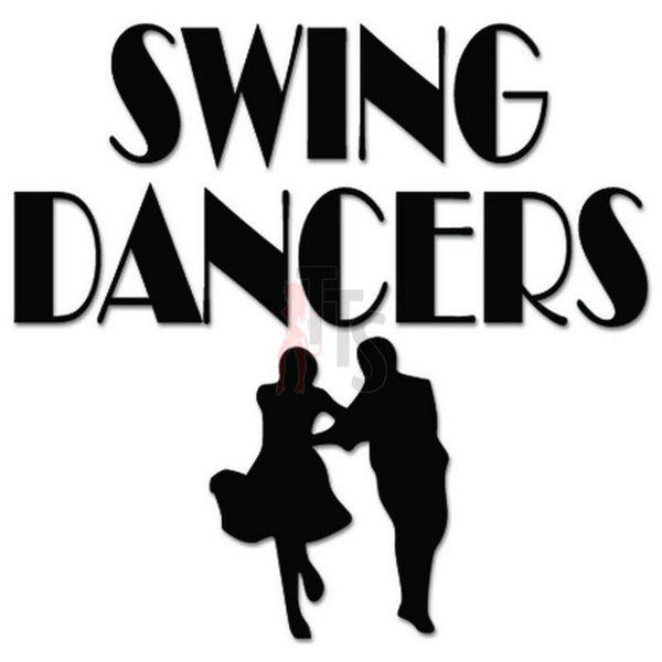 Swing Dancers Dancing Decal Sticker