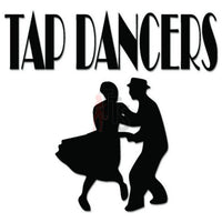 Tap Dancers Dancing Decal Sticker