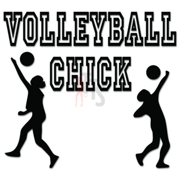 Volleyball Chick Sport Decal Sticker