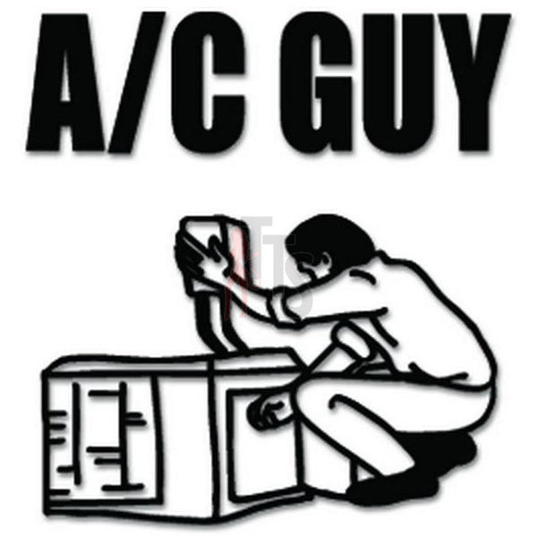 A/C Guy Air Conditioner Decal Sticker