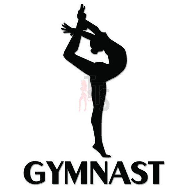 Gymnast Girl Decal Sticker