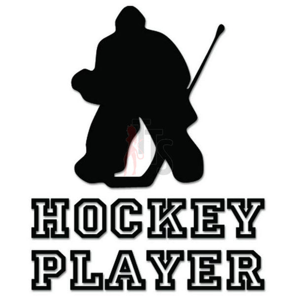 Hockey Player Goalie Decal Sticker