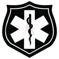 EMT Star of Life Shield Decal Sticker