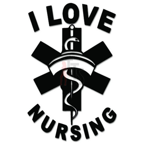 I Love Nursing Decal Sticker