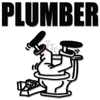 Plumber Toilet Decal Sticker