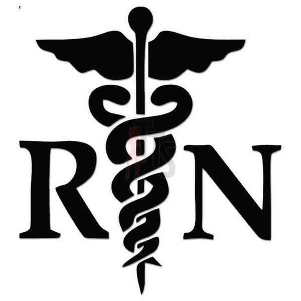 RN Nurse Medical Decal Sticker Style 1