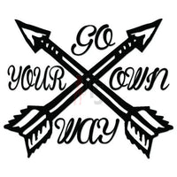 Go Your Own Way Arrows Decal Sticker
