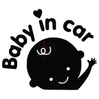 Baby In Car Decal Sticker Style 1