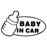Baby In Car Decal Sticker Style 2