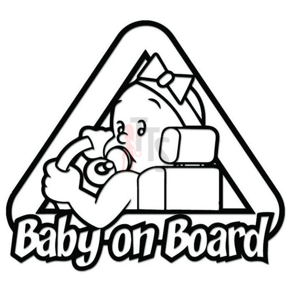Baby On Board Decal Sticker Style 2