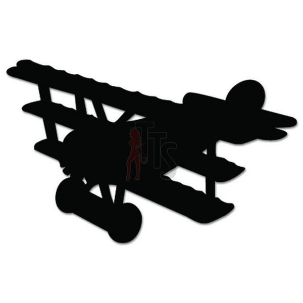 Biplane Airplane Decal Sticker