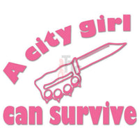 City Girl Can Survive Decal Sticker