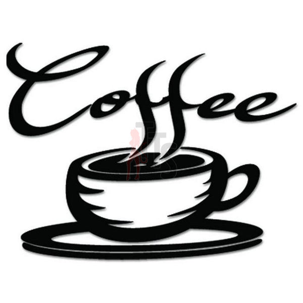 Coffee Cup Caffeine Decal Sticker Style 2