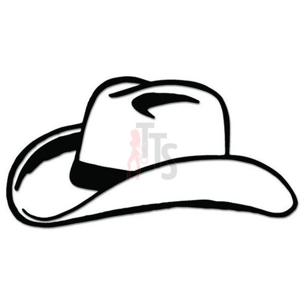 Cowboy Stetson Hat Decal Sticker Style 2