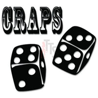 Craps Dice Game Casino Decal Sticker