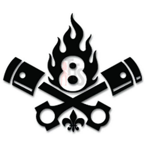 Engine Pistons Saints Number 8 Decal Sticker