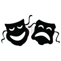 Drama Theater Mask Comedy Tragedy Decal Sticker Style 1