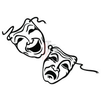 Drama Theater Mask Comedy Tragedy Decal Sticker Style 2